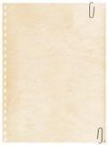 Vieille page de cru d'un cahier avec le clip images libres de droits