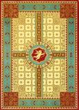 Vieille page rouge antique de livre Photographie stock libre de droits