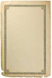 Vieille page sale de feuille de papier de livre avec la vignette Photos libres de droits