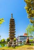 Vieille pagoda en pierre à Nara photos libres de droits