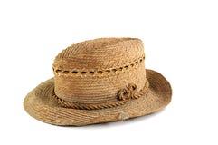 vieille paille de chapeau Image stock