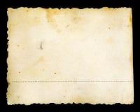 Vieille papier jaune souillé de photo par grunge Photo libre de droits
