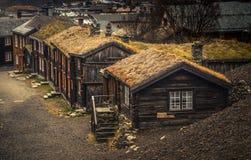 Vieille partie de Roros Ville de extraction norvégienne de liste de l'UNESCO photo stock