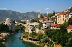 Vieille passerelle à Mostar Images libres de droits