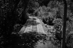 Vieille passerelle en bois Photo libre de droits