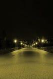 Vieille passerelle la nuit Images stock