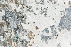 Vieille peinture blanche avec des taches de rouille Images libres de droits