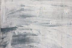 Vieille peinture blanche sur le fond de surface métallique photographie stock libre de droits
