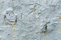 Vieille peinture bleu-clair avec des taches de rouille Photos libres de droits