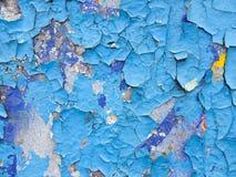 Vieille peinture bleue Photographie stock libre de droits
