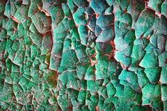 Vieille peinture criquée modifiée sur le mur en béton Images libres de droits