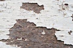 Vieille peinture d'écaillement sur le bois Images libres de droits