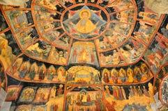 Vieille peinture de mur orthodoxe de graphismes Photographie stock