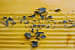 Vieille peinture jaune de texture Image stock