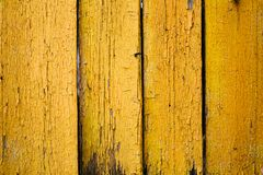 Vieille peinture jaune de texture Photo libre de droits