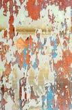 Vieille peinture sur un mur Photographie stock