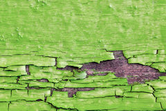 Vieille peinture verte Photo stock