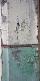 Vieille peinture verte et blanche Photos libres de droits
