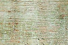Vieille peinture verte sur le conseil Photographie stock libre de droits