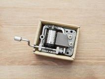 Vieille petite boîte à musique Image libre de droits