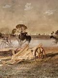 Vieille photo de chariot ou de chariot Images stock