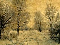 Vieille photo de l'hiver photographie stock