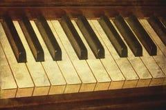 Vieille photo de piano. photographie stock