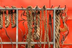 Vieille photo de plan rapproché de cordes Images stock