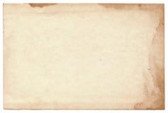 Vieille photo sur le fond blanc Photographie stock libre de droits