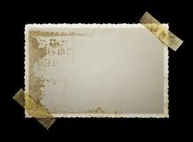 Vieille photographie blanc souillée Photos libres de droits