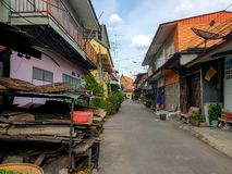 Vieille photographie urbaine de mobile de village photo libre de droits