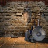 Armes médiévales illustration de vecteur