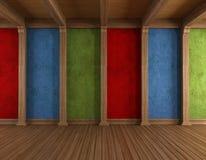 Vieille pièce colorée Photographie stock
