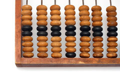 vieille pièce d'abaque en bois Image libre de droits
