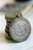 Vieille pièce de monnaie de tabouret Photo libre de droits