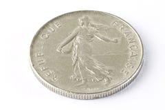 Vieille pièce de monnaie française image libre de droits
