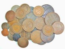 Vieille pièce de monnaie russe de cuivre Images libres de droits