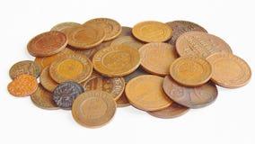 Vieille pièce de monnaie russe de cuivre Image libre de droits