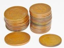 Vieille pièce de monnaie russe de cuivre Photographie stock libre de droits