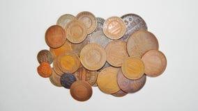 Vieille pièce de monnaie russe de cuivre Photos libres de droits