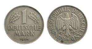 Vieille pièce de monnaie un Deutsche Mark Photographie stock libre de droits