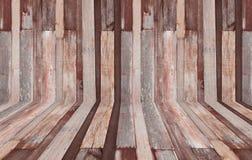 Vieille pièce, mur en bois Photos libres de droits