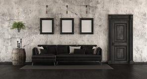 Vieille pièce noire et blanche Photo stock