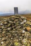 Vieille pierre de frontière photo libre de droits
