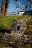 Vieille pierre de moulin Image libre de droits