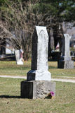Vieille pierre grave Image stock