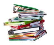 Vieille pile de fichiers Image stock