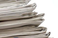 Vieille pile de journaux Images libres de droits