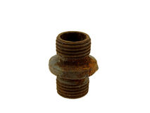 Vieille pipe en acier rouillée Images stock