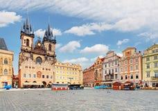 Vieille place à Prague, République Tchèque Photo stock